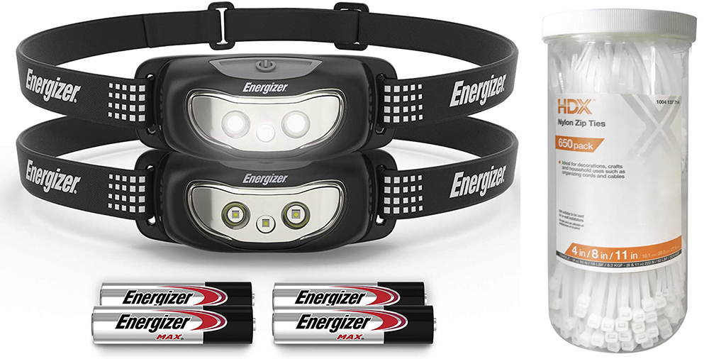 Zip Ties + Head Lamps - Best Practical Father's Day Gift Ideas