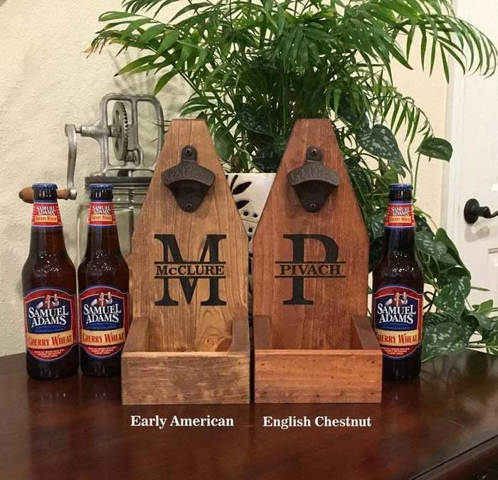 Personalized Bottle Opener Wall Mount Backyard Gift Idea
