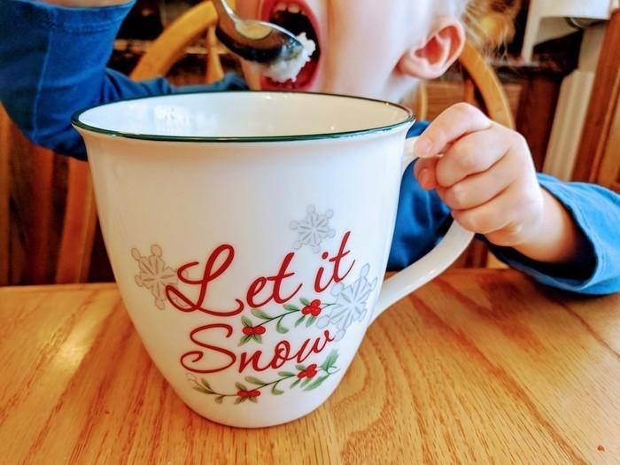 Enjoy snow ice cream on your snow day