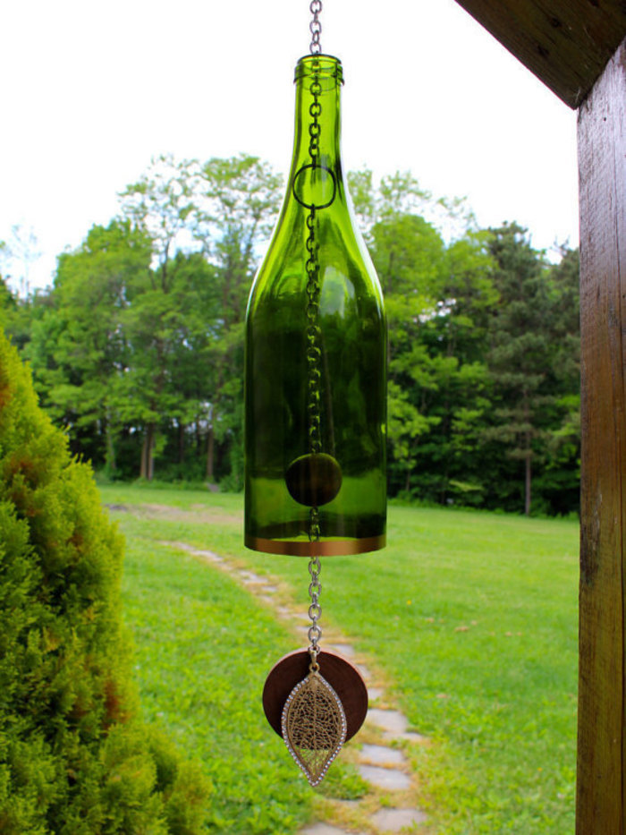 Wine Bottle Wind Chime Gift Idea